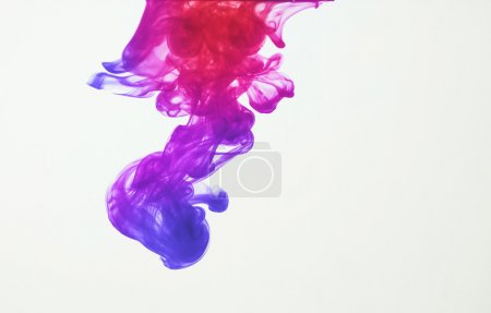 Photo for Colorful ink: blue, purple, pink and red - Royalty Free Image