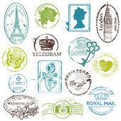 Vintage Rubber Stamp Collection - for your design scrapbook - i
