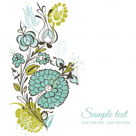 Illustration for Beautiful Floral Background - retro flowers - for wedding, scrapbook, design - in vector - Royalty Free Image
