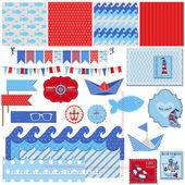 Scrapbook Design Elements - Nautical Sea Theme - for scrapbook a