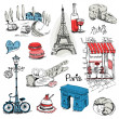 Paris Illustration Set - for design and scrapbook ...