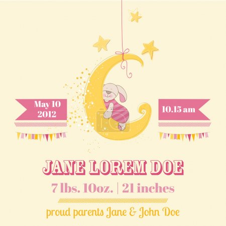 Baby Shower or Arrival Card - in vector...