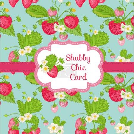 Beautiful Card - Strawberry Shabby Chic Theme