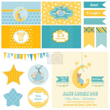 Baby Shower Sleeping Bear Theme  - for Party, Scra...
