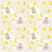 Baby Bear Seamless Pattern - for background design card