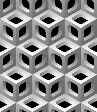 3d lattice seamless pattern