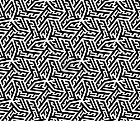 Illustration pour Modèle abstrait sans couture - image libre de droit