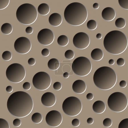 Abstract perforated 3D seamless pattern background