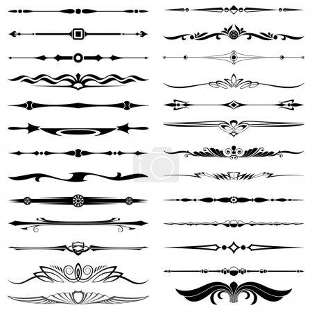 Illustration for Text dividers design elements set - Royalty Free Image