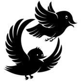 Flying bird icons