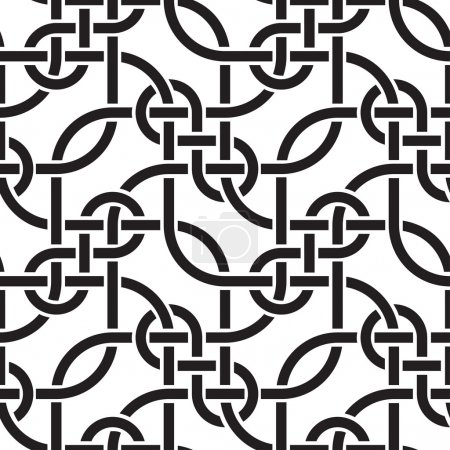 Illustration pour Lignes de tissage illustration vectorielle de motif sans couture - image libre de droit