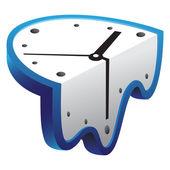 Melting clock vector illustration
