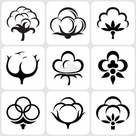 Illustration for Cotton icon set - Royalty Free Image