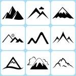 Mountain icons set...