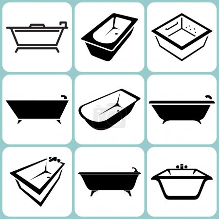 bains icônes ensemble