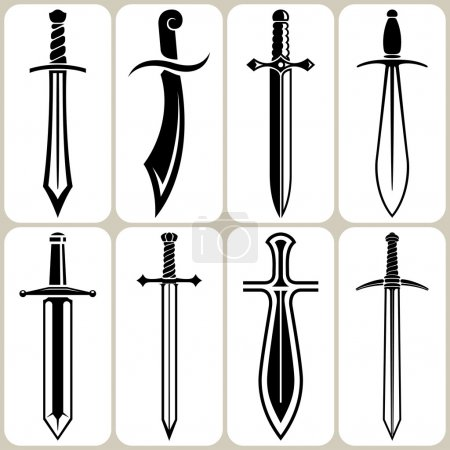 sword icons set