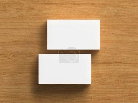 3d render of business cards blank mockup...