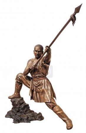 Shaolin warriors monk bronze statue