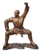 Shaolin bojovníci mnich bronzová socha