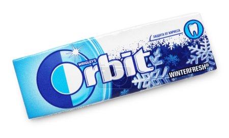 Photo pour Orbite chewing-gum faite par wrigley isolé sur blanc avec un tracé de détourage - image libre de droit