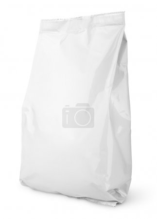 Photo for Blank Snack bag package isolated on white with clipping path - Royalty Free Image