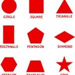 Illustration of Basic Geometric Shapes with Captio...
