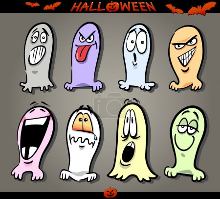 Halloween Ghosts Emoticons