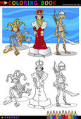 Fantasy characters for coloring