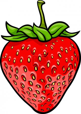 Illustration pour Illustration de dessin animé de l'objet alimentaire Fraise Fruit - image libre de droit