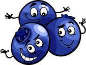 funny blueberry fruits cartoon illustration