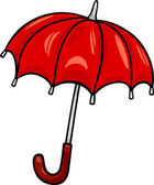 Cartoon Illustration of Red Umbrella Clip Art