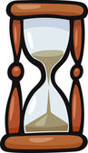 Cartoon Illustration of Hourglass or Sandglass Clip Art