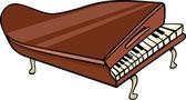 piano clip art cartoon illustration