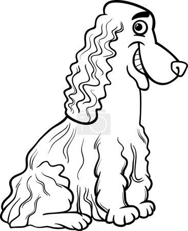 cocker spaniel cartoon for coloring book
