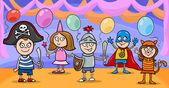 children at fancy ball cartoon