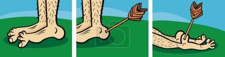 Short Comic Story Strip of Achilles Heel Cartoon I...