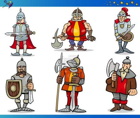 Illustration pour Illustrations de dessins animés Ensemble de personnages de conte de fées ou de fantaisie - image libre de droit