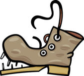 Cartoon Illustration of Old Shoe or Boot Clip Art