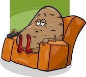 Gauč brambor říká kreslený