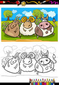 cartoon farm animals coloring page