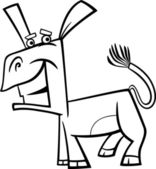 funny donkey cartoon coloring page