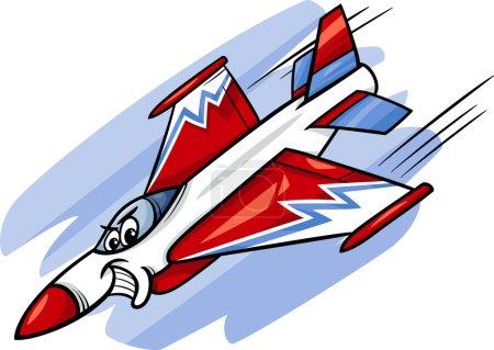 jet fighter plane cartoon illustration