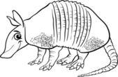 armadillo animal cartoon coloring page