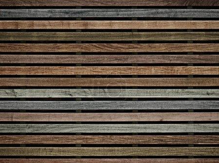 wall of wooden slats color
