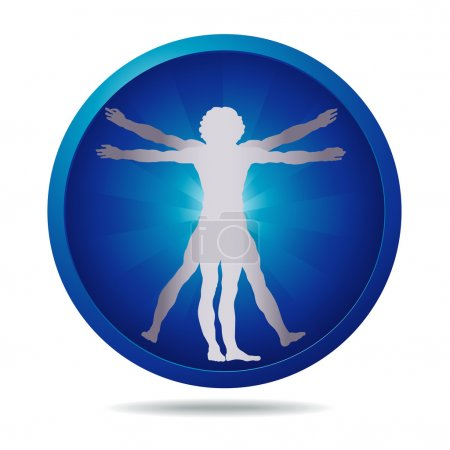 Vitruvian man icon