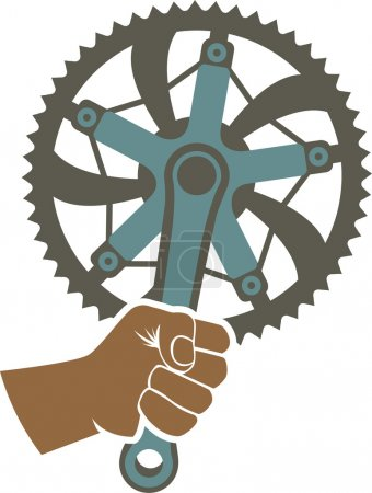 We got the power badge illustration with a bike ch...