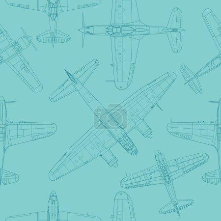 Retro airplane pattern