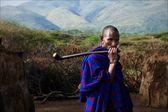 Portrait of maasai man.