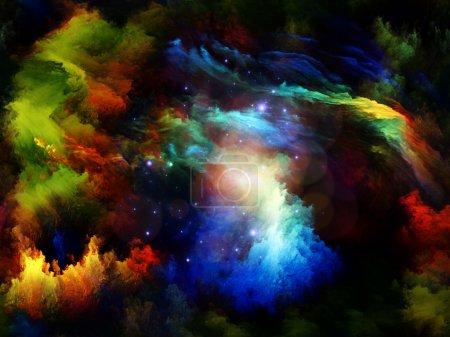 Photo pour Composition de formes et de couleurs de rêve adaptées aux projets sur le rêve, l'imagination, la fantaisie et l'art abstrait - image libre de droit