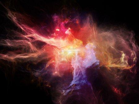 Photo pour Certains voient des anges, d'autres des démons, d'autres des nébuleuses. - image libre de droit